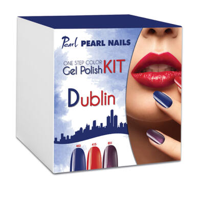 Kit One Step Color gel lac DUBLIN - Albastru|Roșu|Mov