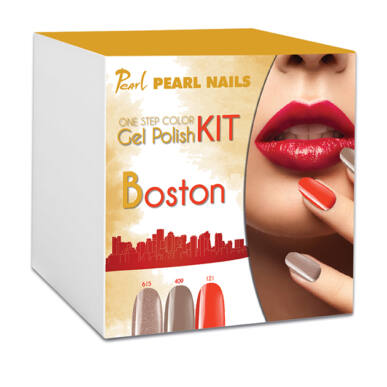 Kit One Step Color gel lac BOSTON - Cappucino|Maro|Roșu