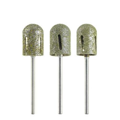 Capăt de freză cilindric din diamant pentru pedichiură - cu tăietură pentru răcire