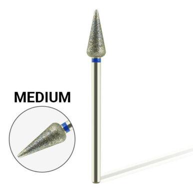 Capăt freză din diamant flacără - MEDIUM