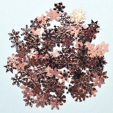 Ornamente metalice - mix fulgi de nea